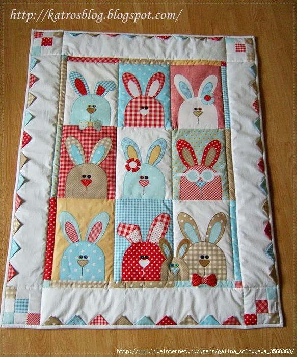 Baby quilt idea......(a quilt for somebunny special! ADORABLE!!)....