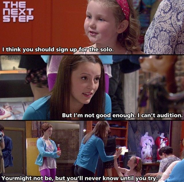 Margie-I think you should sign up for the solo. Chloe-But I'm not good enough. I can't audition. Margie-You might not be, but you never know until you try.