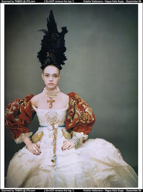 Natalia Vodianova shot by Paolo Roversi for Vogue Italia 2006