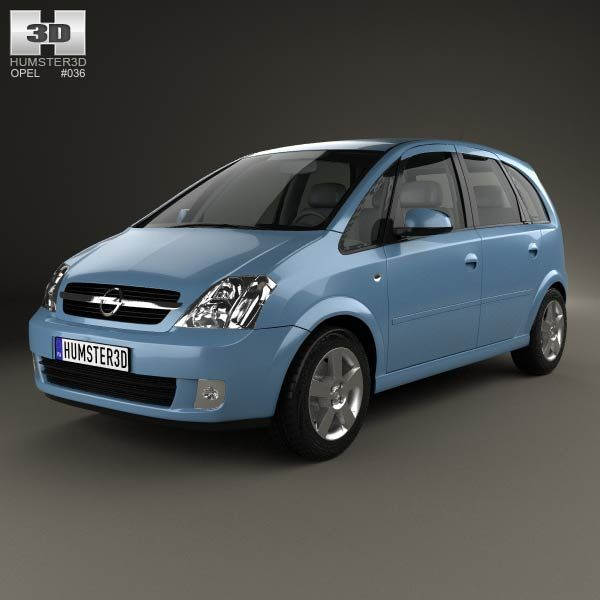 Opel Meriva (A) 2003 3d model from humster3d.com. Price: $75