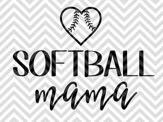 Softball Mama Softball Mom decal SVG file - Cut File - Cricut projects - Silhouette projects by KristinAmandaDesigns