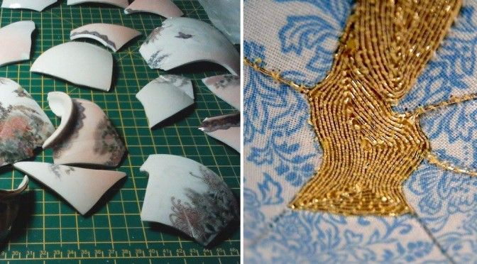 Подражание кинцуги http://www.prohandmade.ru/other/podrazhanie-kincugi/