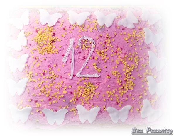 Bez Pszenicy: Różowy tort bezglutenowy na 12 urodziny Tamarki (b...