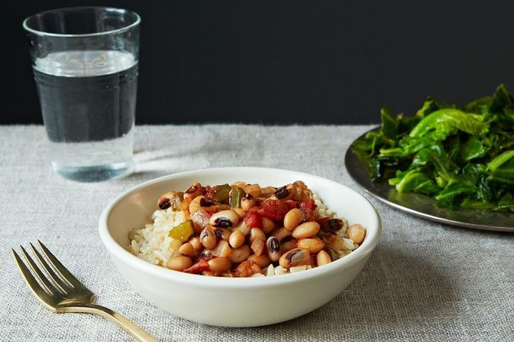 Vegan Hoppin' John (Not So Vegan because I used chicken broth) Yowza! I kept it kind of soupy and didn't serve it with rice, and it was DELICIOUS!