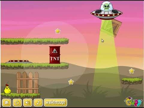 Online Games Free To Play 2018 | UFO Puzzle Physics Game