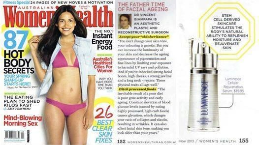 Photo: Well, would ya look at that!!! Jeunesse's Luminesce Cellular Rejuvenation Serum featured in Australian Women's Health! I am so thankful that Jeunesse has opened up in the United States & Canada! I need a barrel full of this stuff to dunk my body in! LOL Read what the fuss is about here: http://www.agelesswithjane.jeunesseglobal.com/products.aspx?p=LUMINESCE