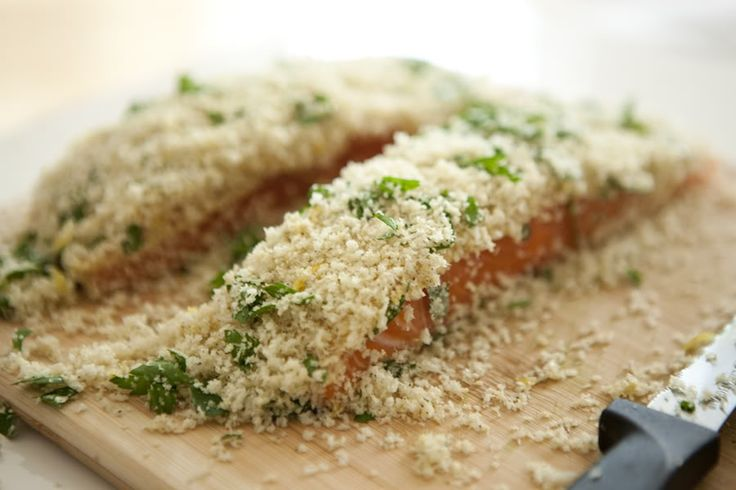 Panko crusted salmon Milk & Mode: made with steelhead trout.