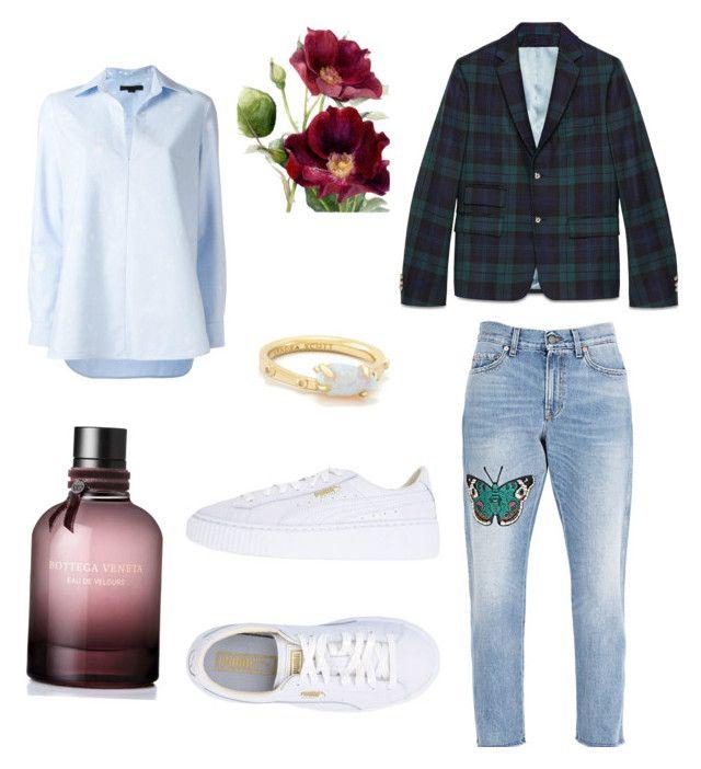 """🌳"" by stacyk01 on Polyvore featuring мода, Gucci, Puma, Alexander Wang, Kendra Scott и Bottega Veneta"