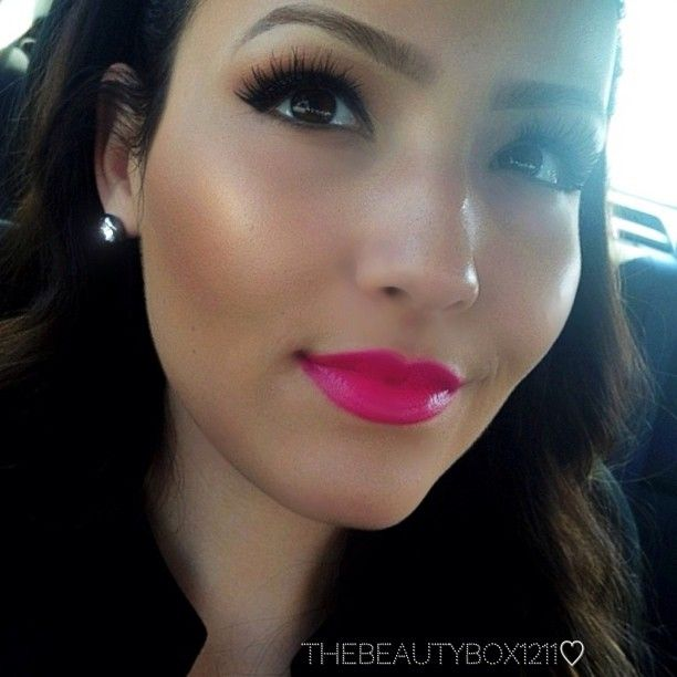 Mac Girl About Town lipstick and glowing skin