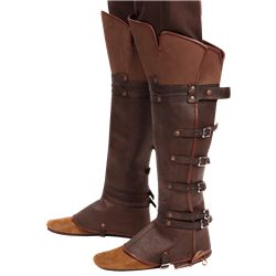 Spats and Boot Covers, Leather Spats, Gothic Gaiters, Gothic Leg Guards, Steampunk Leg Guards and Gothic Leg Warmers by Medieval Collectibles