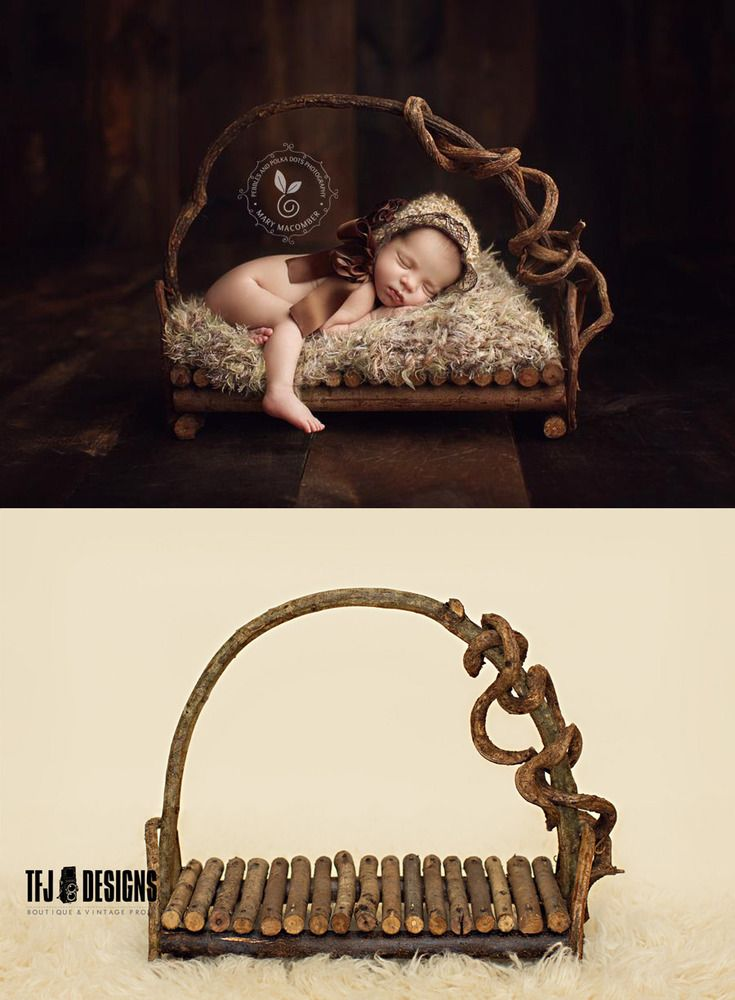 Branch Bed - Newborn Photography Prop - Real Wood - NEW, $50.00 by TFJ Designs