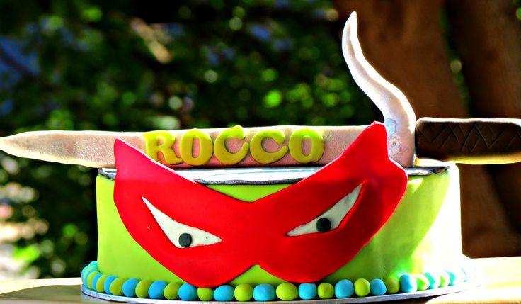 Ninja Turtle Cake with Sword