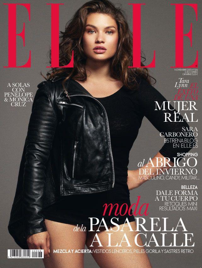 Elle España noviembre 2013, con Tara Lynn, supermodelo de tallas XL.