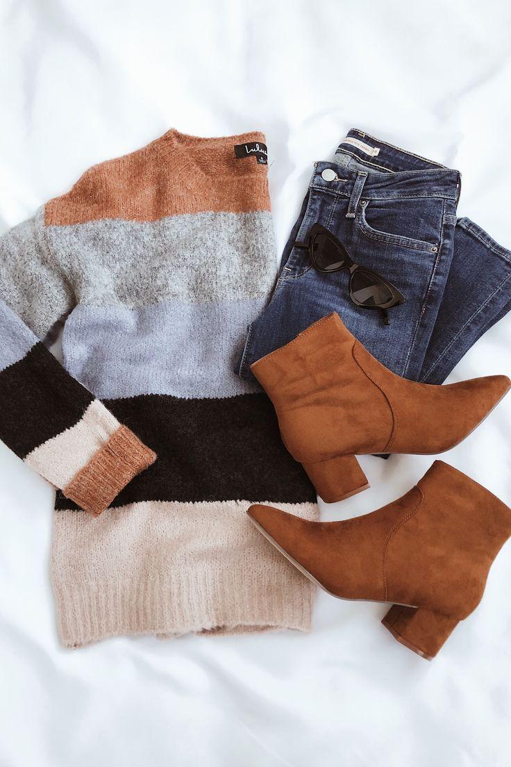Unconditional Multi Striped Knit Sweater