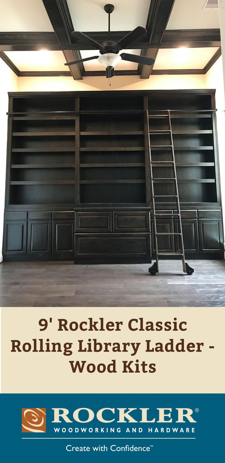 9 Rockler Classic Rolling Library Ladder Wood Kits