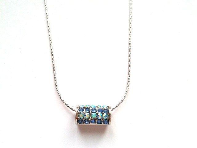 Kék kristályos nyaklánc