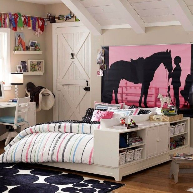 Bedroom Interior Room Design Brown Small Kid With Storage Excerpt Ideas: Extraordinary Cute Bedroom Designs. Horse Theme Interior