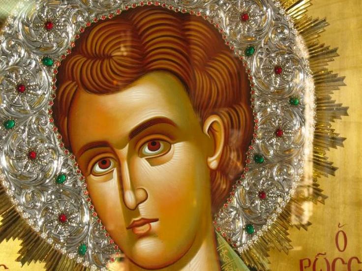 wonderful icon of Saint John the Russian (detail)