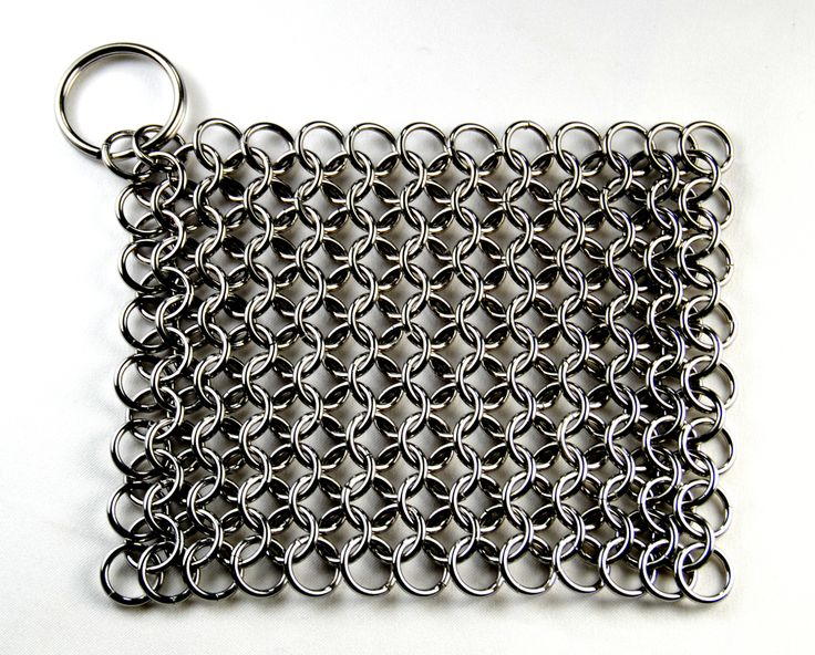 CM Scrubber - Chain Mail Scrubber for Cast Iron Cookware