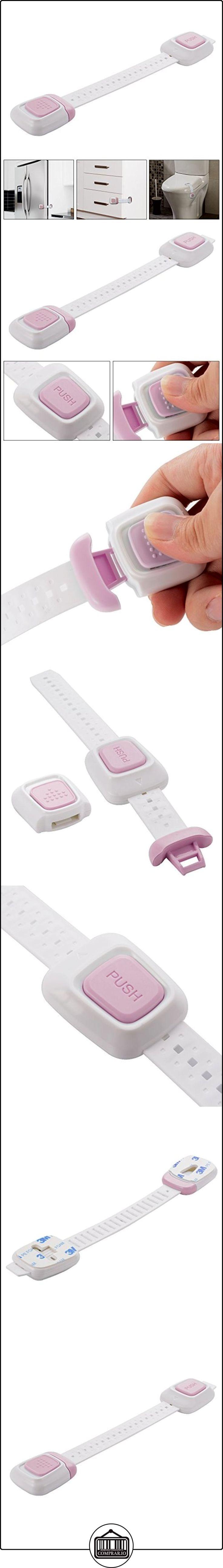 XCSOURCE® 5 Piezas Bloqueo de Seguridad con pulsador Doble lado etiqueta Adhesiva para Bebé y Niños, Cierre Magnético de Seguridad para armarios, cajones, puertas, electrodomésticos, refrigeradores, baños, botes de basura ( Rosa+SGSJC332201) HS647  ✿ Seguridad para tu bebé - (Protege a tus hijos) ✿ ▬► Ver oferta: http://comprar.io/goto/B01L8NE8MI