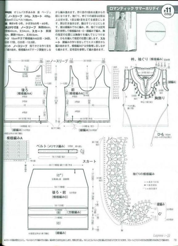 Женское шикарное платье | Вязание для женщин | Вязание спицами и крючком. Схемы вязания.