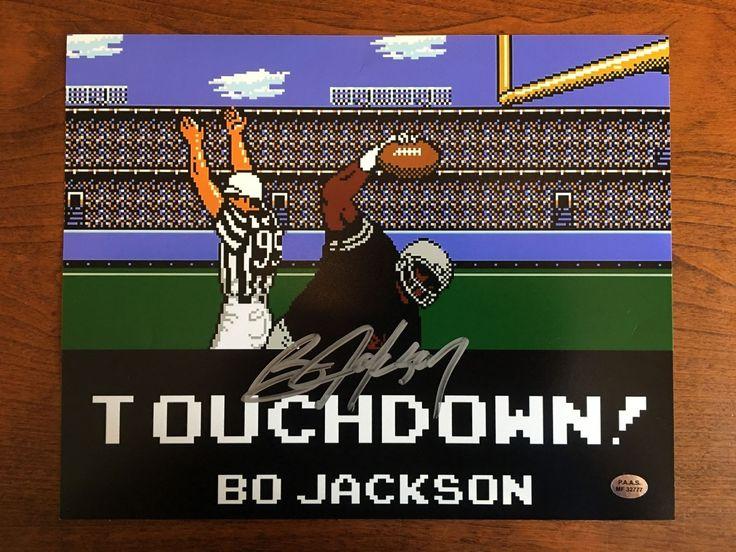 Bo Jackson Los Angeles/Oakland Raiders Tecmo Bowl TD Hand Signed 8x10 Photo