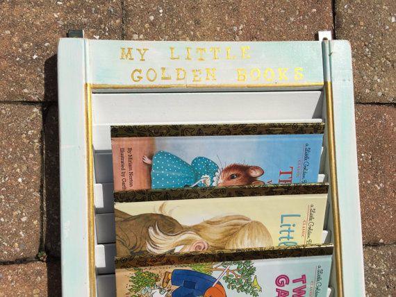 Repurposed vintage SHUTTER holds Little Golden Book by Estate2 for sale on Etsy