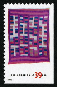 Chinese Coins Variation, by Arlonzia Pettway. 39c USA quilt post stamp 2006