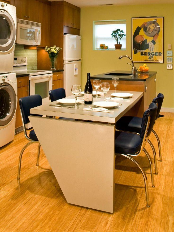 Раскладные столы для маленькой кухни: как оптимизировать кухонное пространство и обзор наиболее удобных современных моделей http://happymodern.ru/kuxonnye-stoly-raskladnye-dlya-malenkoj-kuxni/ Раскладной стол, крепящийся к кухонному острову, изготовлен из доступного МДФ Смотри больше http://happymodern.ru/kuxonnye-stoly-raskladnye-dlya-malenkoj-kuxni/