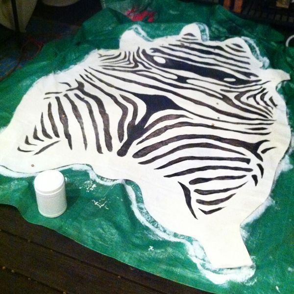 The HUNTED INTERIOR: Painted Zebra Rug