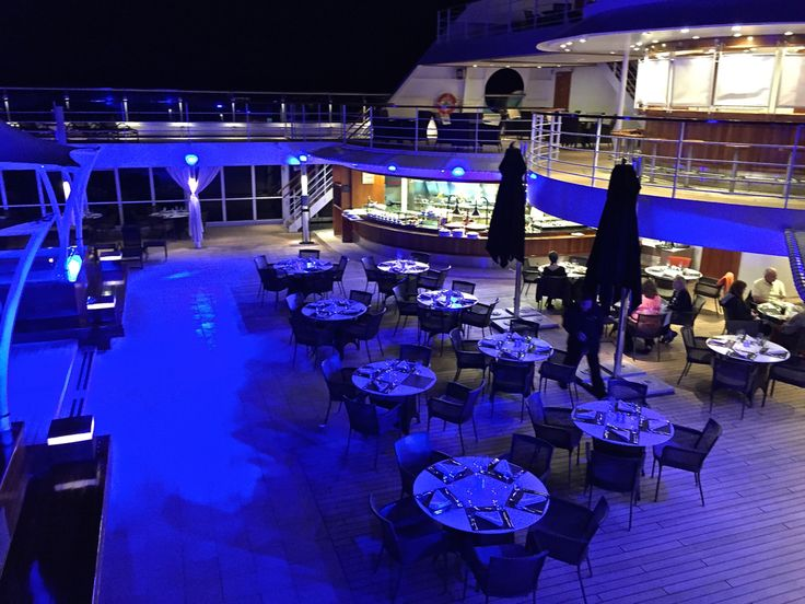 An Outdoor Dining Venue On #SeabournFoodandWineCruise, The Patio Grill