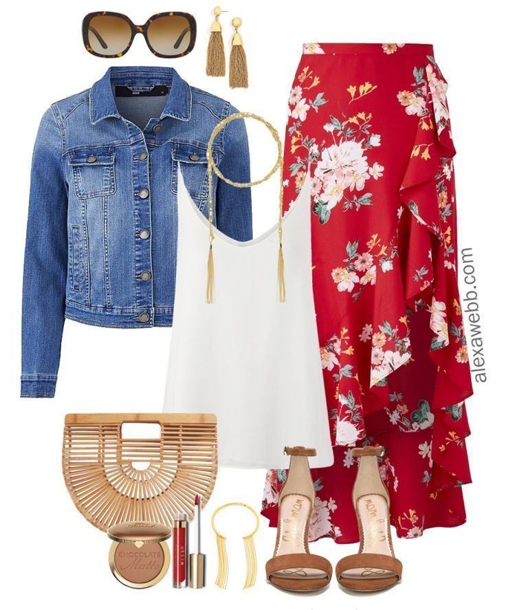 Plus Size Wickelrock-Outfit