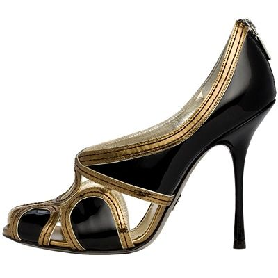 Dolce and Gabbana Black & Gold Pumps Fall Winter 2009 #Shoes #Heels