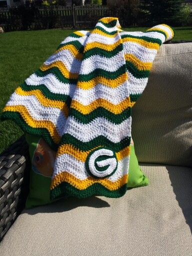 Green Bay Packers baby blanket crocheted