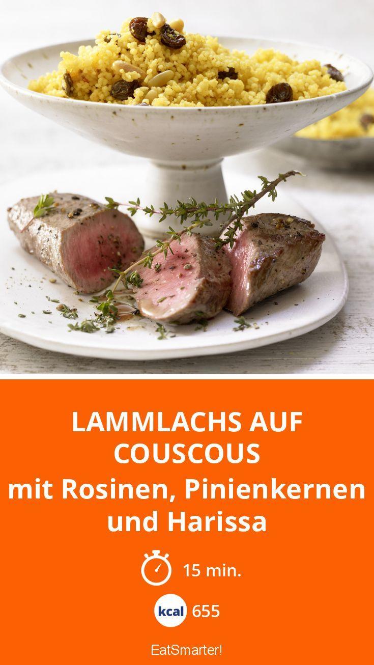 Lammlachs auf Couscous - mit Rosinen, Pinienkernen und Harissa - smarter - Kalorien: 655 Kcal - Zeit: 15 Min. | eatsmarter.de