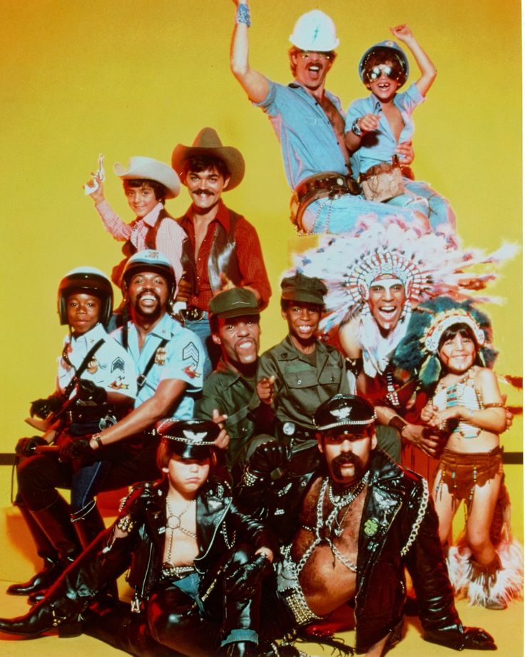 The Village People With The Mini Village People Omg This