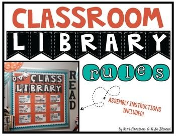 This pack includes 9 classroom library rules with orange and turquoise accents. A banner title and Book Hospital sign are also included, with assembly pictures and instructions. UPDATED 7/27/16 - an editable version of the signs are now included so you can customize the rules to your