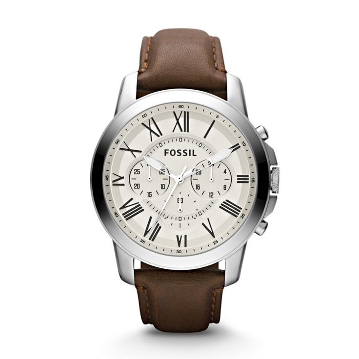 Grant chronograph leather watch. ¡Otro modelo imperdible de Fossil!