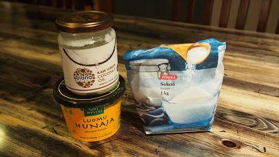 Handmade by Tarja: Kookosöljy-sokeri-hunajakuorinta