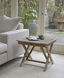 Baya White Wash Side Table