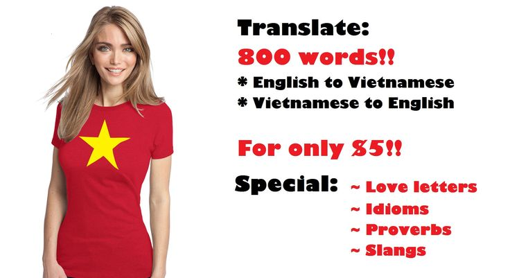 chloetranxx: translate 800 words from English to Vietnamese and vice versa for $5, on fiverr.com