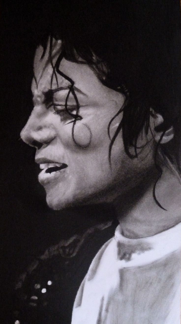 """""""MJ the King"""" #conte #drawing #art"""