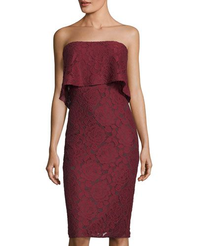 a2f822443ba LIKELY DRIGGS STRAPLESS LACE DRESS.  likely  cloth