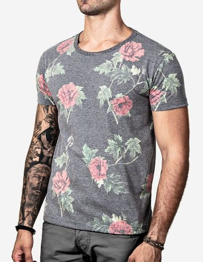T-SHIRT FULL PRINT FLOWERS 100198 - Hermoso Compadre