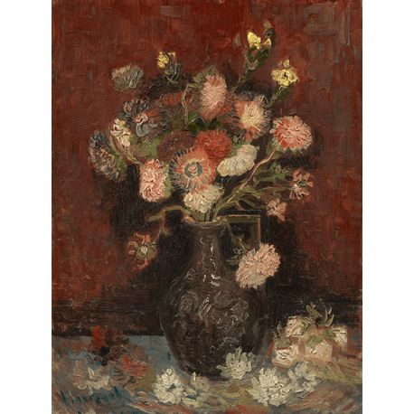 Reprodukcje obrazów Vincent van Gogh Vase with Chinese Asters and Gladioli - Fedkolor