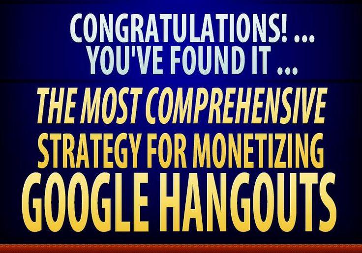 [GET] Hangout Cash Evolution Review _ The Best Comprehensive Strategy For Monetizing Google Hangouts  https://jvzooandwsodownload.wordpress.com/2015/02/24/hangout-cash-evolution/