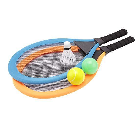 Amazon Com Fashionclubs Kids Tennis Racket Set Plastic Badminton Tennis Rackets Balls Set Kids Racket Racquet Pl Kids Tennis Racket Kids Tennis Tennis Racket