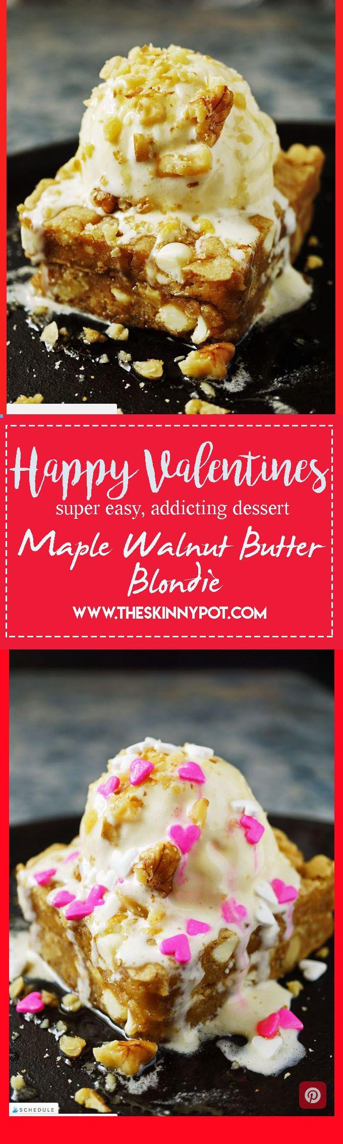 Maple Walnut Butter Blondie (Easy,Super Addicting and Few Ingredient Dessert)