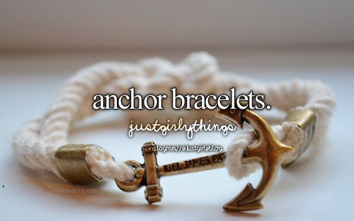 Anchor bracelets