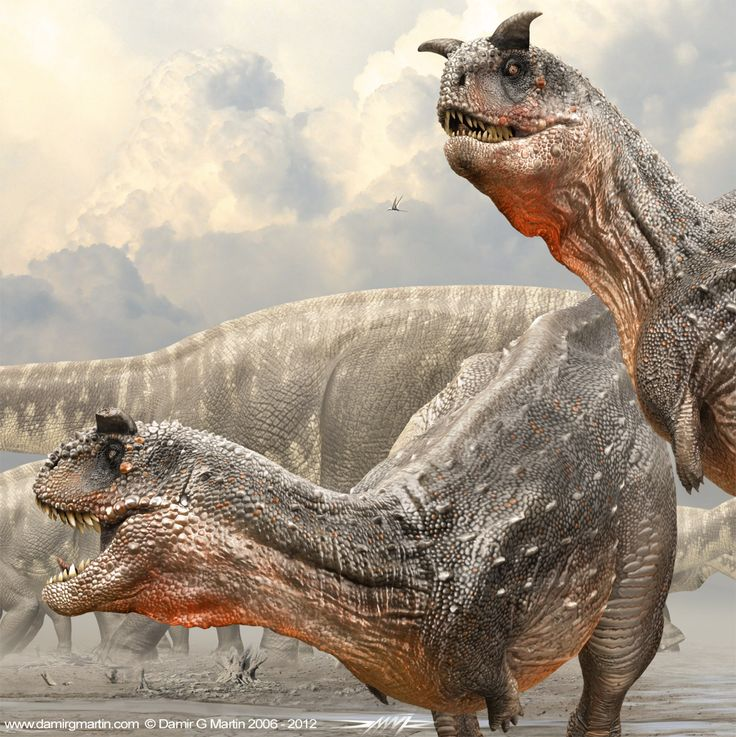 Carnotaurus brothers by Damir G. Martin Probably would be called Meat Bulls or Jungle Devils on Dymos.
